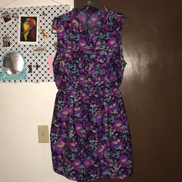 indulge Dresses & Skirts - Purple print dress
